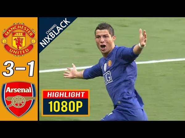 Manchester United : Arsenal 2009 UCL Semi Finals All goals Highlights FHD/1080P