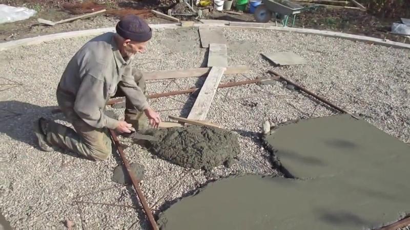 ✔ 3 Стяжка центр заливка Построить дом своими руками