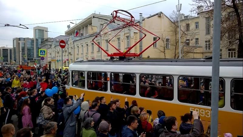 Парад трамваев! 120 лет Московскому трамваю!