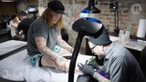Underoath's Aaron Gillespie Gets Tattoo of 6-Year-Old Sons Cowboy Drawing