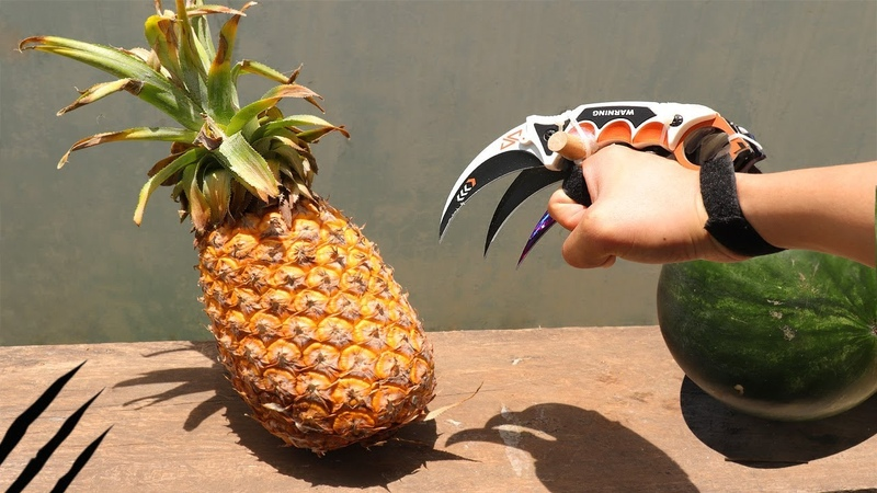 Karambit vs Pineapple watermelon - Fruit Ninja - Wolverine