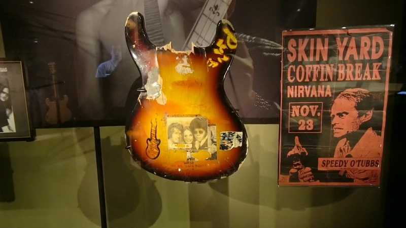 918 NIRVANA Destroyed Instruments and Personal Belongings Exhibit at MoPOP Travel Vlog 2 10 19