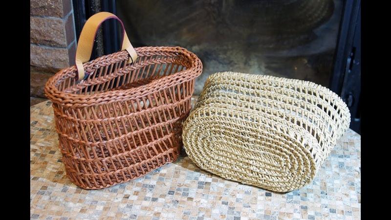 ♻ Плетение корзинки с овальным дном в стиле буркина фасо ♻