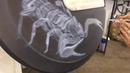 Аэрография скорпион на запаске гелика