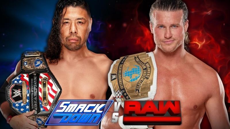 Dolph Ziggler vs Shinsuke Nakamura IC Champion vs US Champion SmackDown vs Raw WWE2K18