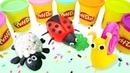 Play-Doh hamur oyunları. Oyun hamuru ile hayvanlar