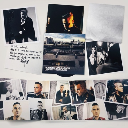 """Robbie Williams on Instagram: """"Make sure you grab your copy of UTR3 Super Deluxe CD for all of these sexy extras 😉"""""""