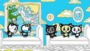 Раскраски-считалки • Три котенка - Котятки упали с кроватки