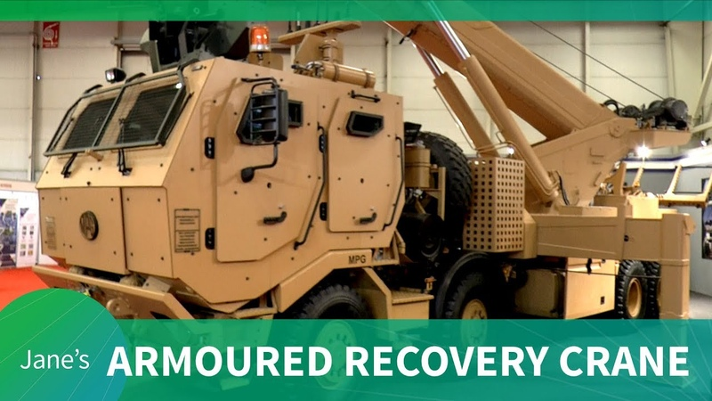 IDEF 2019: Multi-purpose armoured recovery crane for the Turkish Armed Forces