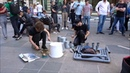 Russian street drummers in Moscow - House/Trance/Techno - Incredible improv jam