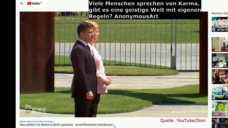 Erkenne spirituelle Zeichen Warnungen aus der geistigen Welt Merkel zittert