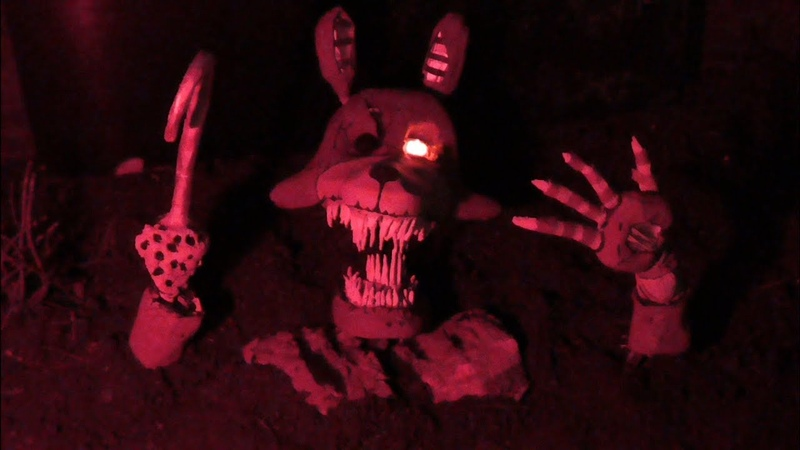 Twisted Foxy hand crafted model   Five nights at Freddy's - The Twisted ones  
