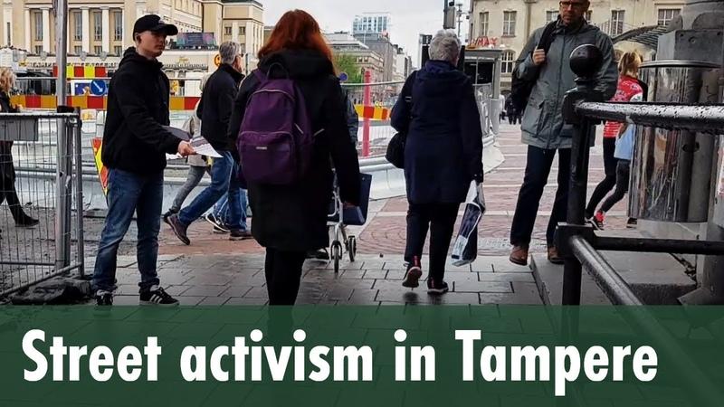 Street activism in Tampere — Kohti vapautta!
