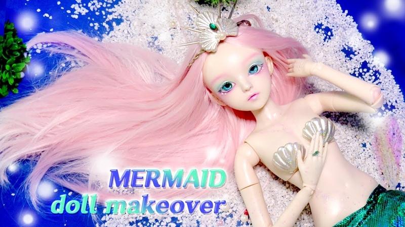 [Doll Repaint] 도리스돌을 시원한 바닷속 인어 공주로 꾸며주기- 60cm 구체 관절 인형 리페