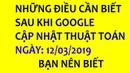 GOOGLE CẬP NHẬT GÌ TRONG NGÀY 12 03 2019 CHO VIỆC SEO TOP GOOGLE SEO WEB TOP GOOGLE 2019