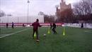Футбольная тренировка Тройная стенка Игра в одно касание