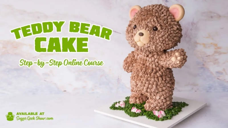 NEW ONLINE COURSE - Teddy Bear Cake - On Sugar Geek Show