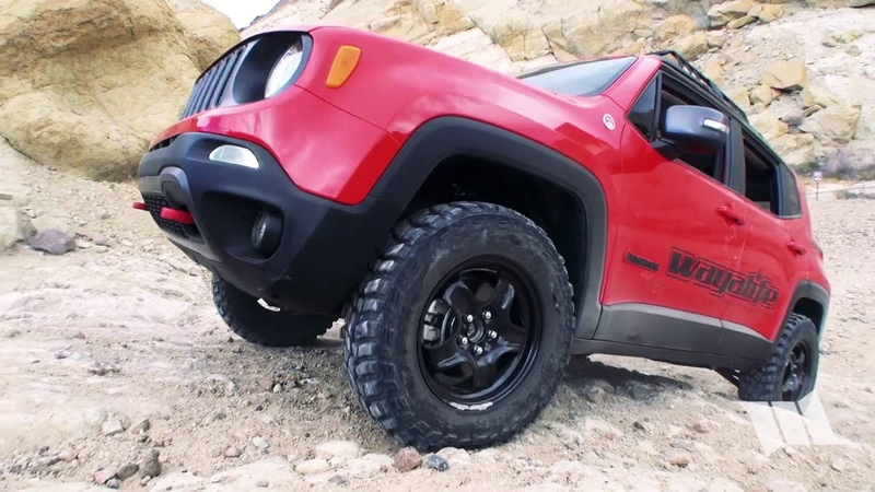 TRAILHAWK TRACTION Jeep Renegade Steep Hill Climb out of Last Chance Canyon