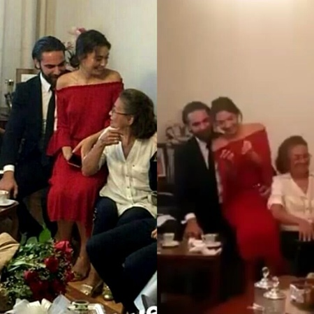 "🔹Neslihan Atagül🔹∞🔸Angel🔸🇭🇺🕊 on Instagram ""Tbt From the engagement of Deniz and Nazli brother-in-law (Neslihan) 💑🙈😍 @neslihanatagul @kadirdogu..."