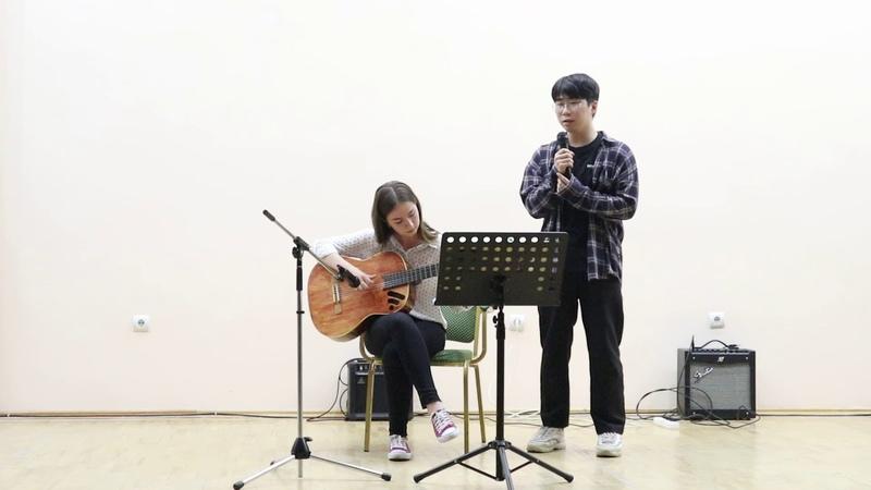 День Кореи песнягитара 오세티아 학생의 기타반주에 한국대학생 노래 - 잊어야한다는 마음51004