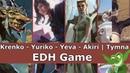 Krenko vs Yuriko vs Yeva vs Akiri Tymna EDH CMDR game play for Magic The Gathering