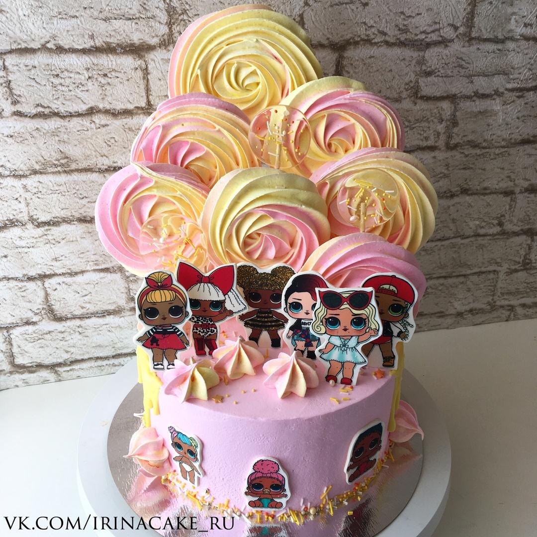 Торт с куклами лол (Арт. 466)