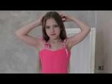 Model Rebecca pink dress present agency Brima.d