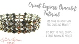 Orient Express Bracelet - Right Angle Weave &amp Ladder Stitch