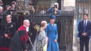 ROYAL: Kate Middleton waves at public after Anzac Day service, London, 2019