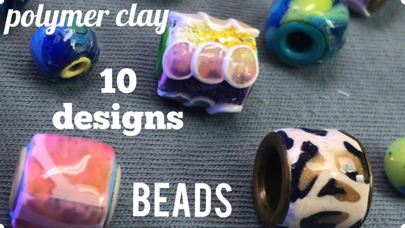 DIY 10 Designs of Polymer Cay Beads. TUTORIAL. PART 2