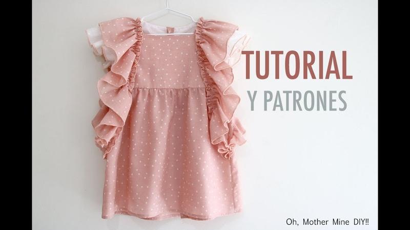 Patrones de Vestido con volantes para niñas (gratis hasta talla 9 años)