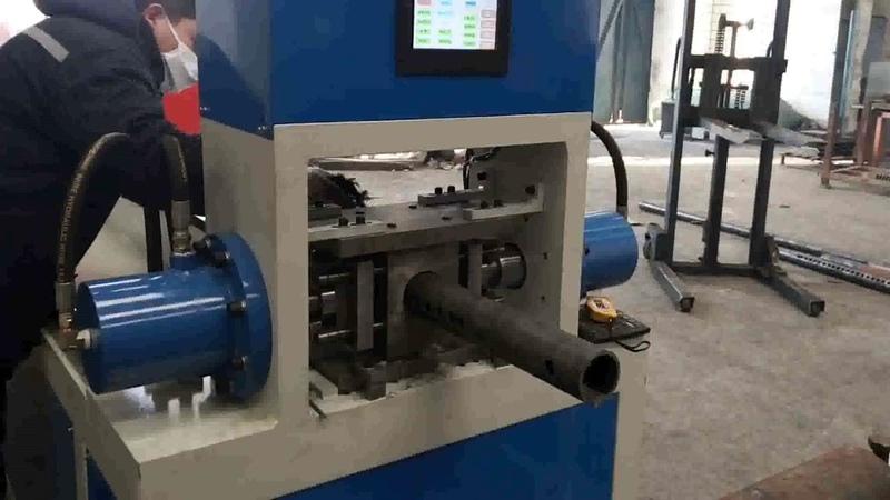 Horizontal Double Cylinder Heavy Duty CNC Automatic Pipe Punching Machine