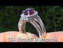 GIA UNHEATED UNTREATED Ruby Diamond Ring Solid 14K STUNNING