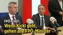 Norbert Hofer Alle FPÖ Minister legen bei Entlassung von Innenminister Kickl Ämter nieder