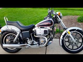 Мотоциклы amf harley-davidson fxs 80 low rider, 1979 года