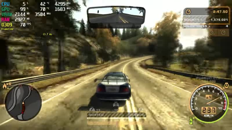 [Benchmark] NFS: Most Wanted (2005) GTX 1050 Ti 4K 60fps in 2019?