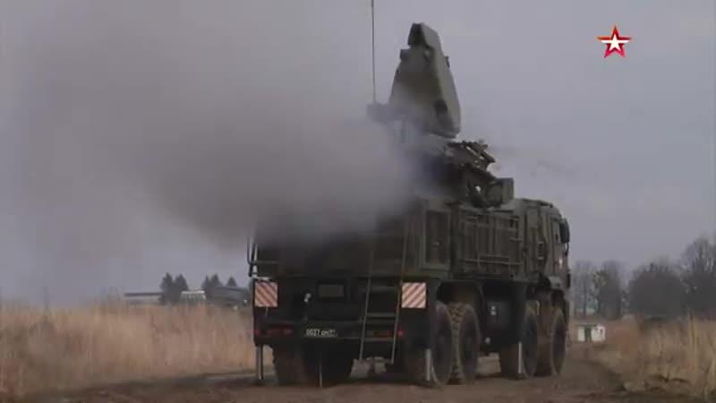 Стрельбы ЗРПК Панцирь-С1 в Калининградской области