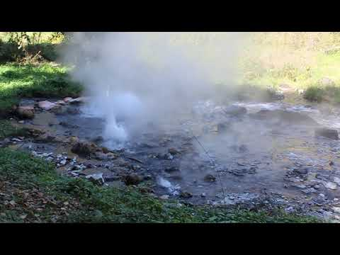 Free Video Footages - Pong Dueat hot spring in Huai Nam Dang national park , Chiangmai, Thailand