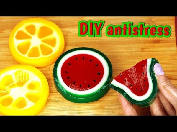 How To Make SQUISHY Soap!! DIY Watermelon Stress ball Soap! (Original recipe by)