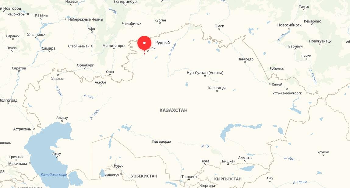 Карта Рудный