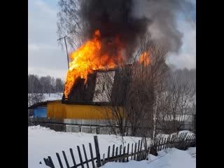 Пожар в Мошковском районе