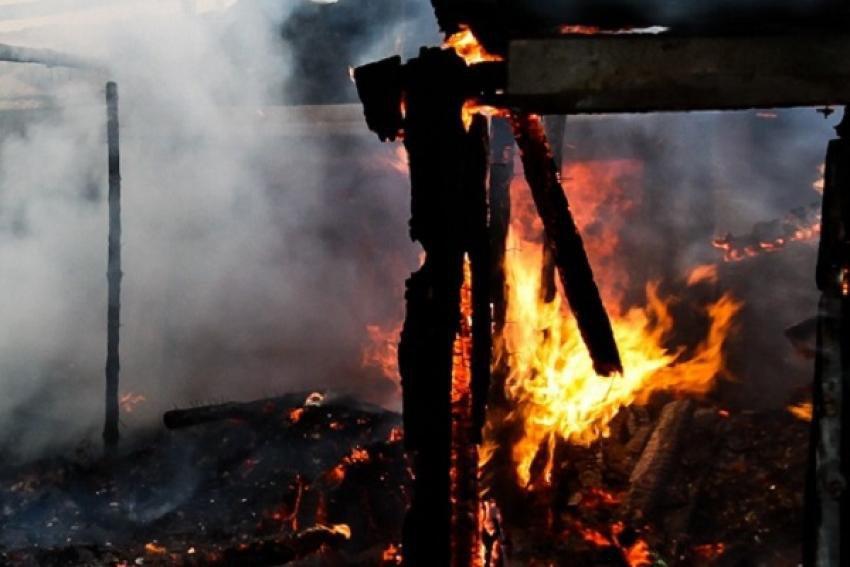 Пожар в Кардоникской уничтожил хозпостройку