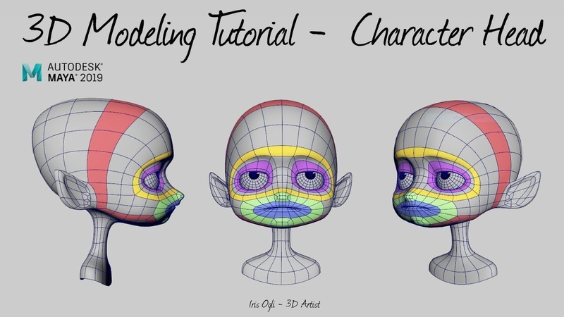 3D Modeling Tutorial -Modeling Character head in maya 2019