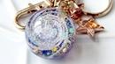 UVレジン 100均材料で銀河の球体キーホルダーを作ってみました!Spiral galaxy resi