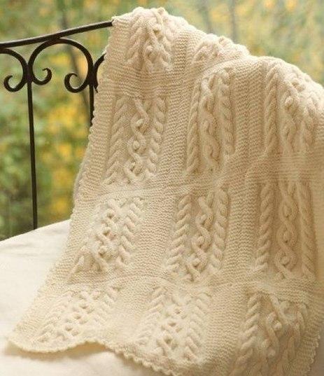 вязаное одеяло самое интересное в блогах