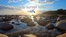 Музыкальные отражения заката в Норвегии снятие напряжения