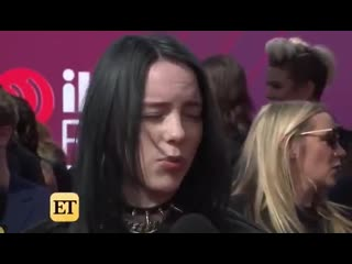 billie talking about Ariana Grande on the iHeartAwards2019 red carpet