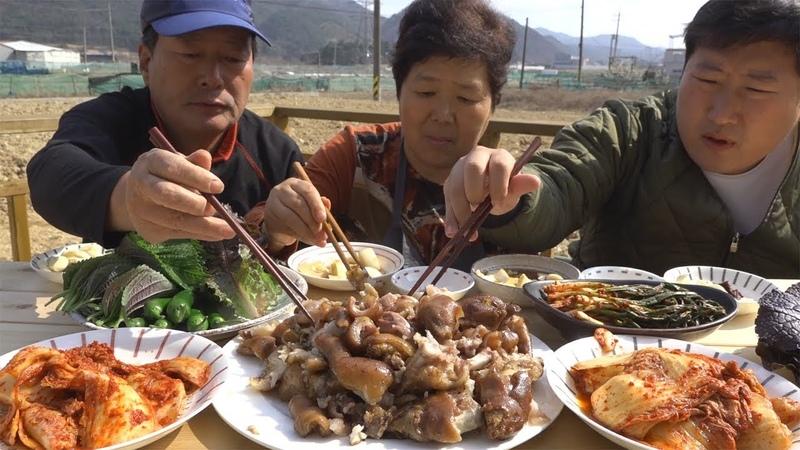 쫄깃한 식감의~ [[족발(Jokbal, Pigs Feet)]] 요리47673방!! - Mukbang eating show
