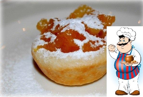 Волованы-пирожки с курагой