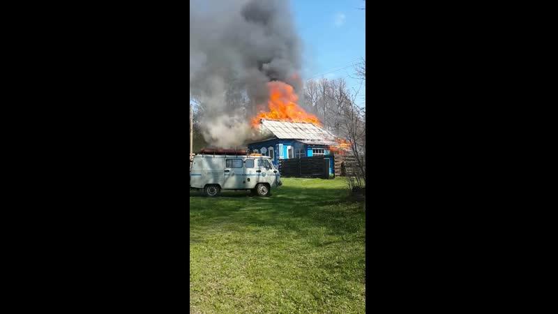 пожар в деревне Спаское